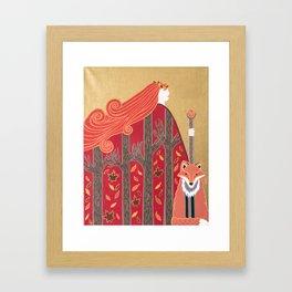 Fall goddess Framed Art Print
