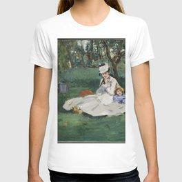 Édouard Manet - The Monet Family in Their Garden at Argenteuil (1874) T-shirt