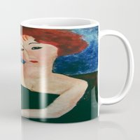 redhead Mugs featuring Redhead by Sandra Dimitrijevic