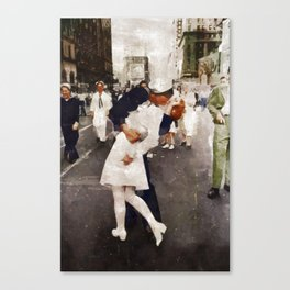 The Kiss,VJ Day, WWII Canvas Print