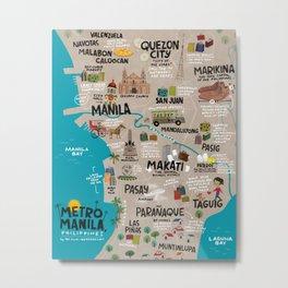 Metro Manila, Philippines Metal Print