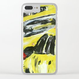 New York Taxis Fine Art Acrylic Painting Clear iPhone Case