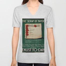 Vintage poster - The Scrap of Paper Unisex V-Neck