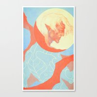 dragon age Canvas Prints featuring Dragon Age: Fenris by Couple Of Kooks