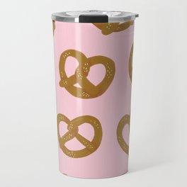 Pretzel Pattern – Blush Travel Mug