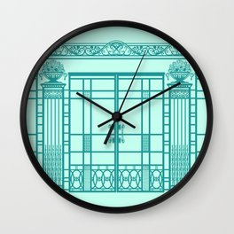 ART DECO, ART NOUVEAU IRONWORK: Blue Green Dream Wall Clock