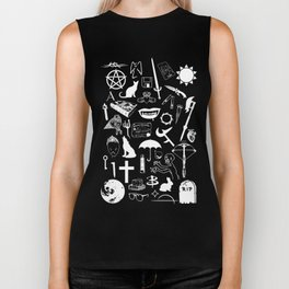 Buffy Symbology, White Biker Tank