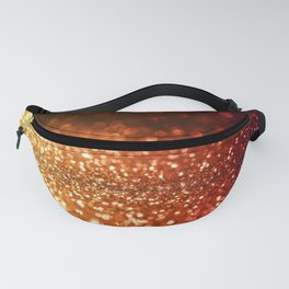 Fire and flames - Red and yellow glitter effect texture Fanny Pack