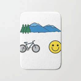 """Big fan of """"Mountain Bike""""? Grab this awesome tee and wear them anytime. Stay creative and positive! Bath Mat"""
