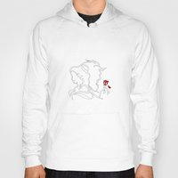 beauty and the beast Hoodies featuring Beauty And The Beast by Electra