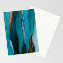"""""""a dark february redux1"""" abstract watercolor painting Stationery Cards"""