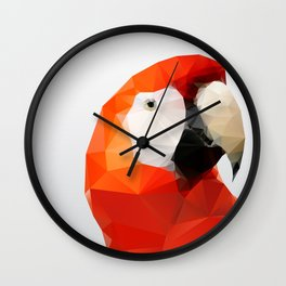 Geo - Parrot red Wall Clock