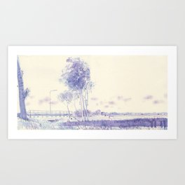 On the way to Haarlem Art Print