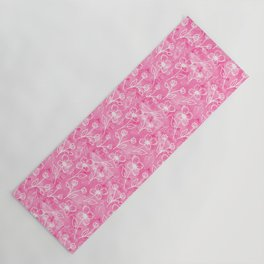 11 Small Flowers on Pink Watercolor Yoga Mat