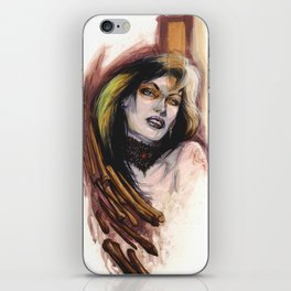 Girl with Bones by Baxa iPhone Skin