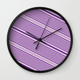 Purple Stripes Wall Clock
