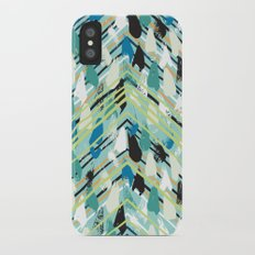 Chevron print with colorful stripes and lines Slim Case iPhone X