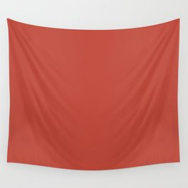 RAVISHING RED Hot Rust pure pastel solid color Wall Tapestry