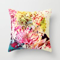 aelwen Throw Pillows featuring waterlily by clemm