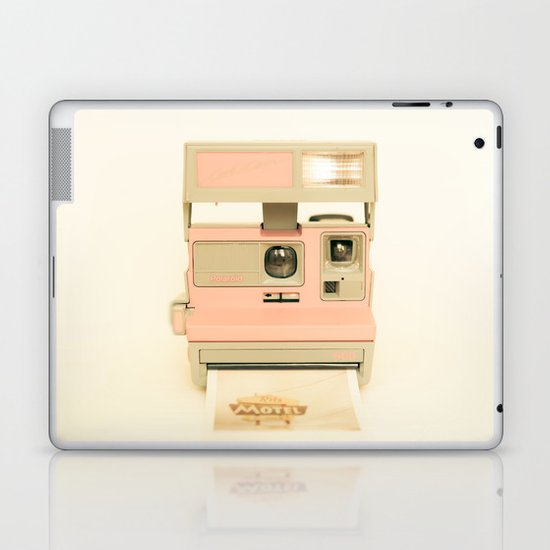 Pink Pola Love vintage camera Laptop & iPad Skin