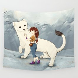 Hermine and her Fairy friend Wall Tapestry