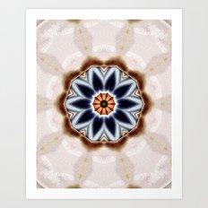 Abstract 82 digital floral mandala Art Print
