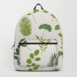 Tropical Leaf and Herb Pattern Backpack