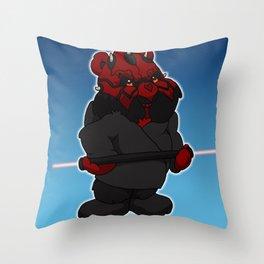 darth maul bear Throw Pillow