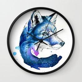 Celestial Fox Wall Clock