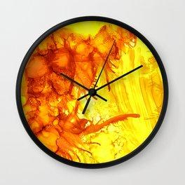 Fire Wave Wall Clock