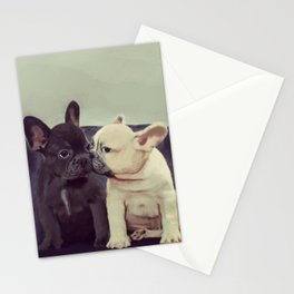 Frenchie kiss Stationery Cards