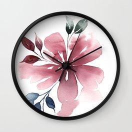 Modern Watercolor Florals No. 4 Wall Clock