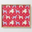 Oodles 'n' Oodles o' Periwinkle Polka Poodles Pattern by jenmontgomery