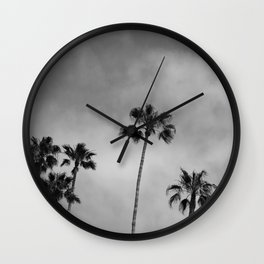 Black and White Palm Tree Wall Clock