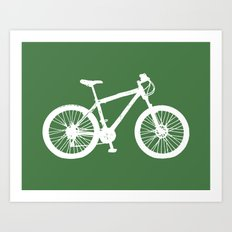 Mountain Bike Green Art Print