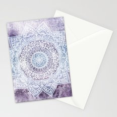 DEEP PURPLE MANDALA Stationery Cards