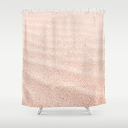Sand waves - rose quartz Shower Curtain