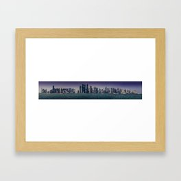 Doha City Skyline Framed Art Print
