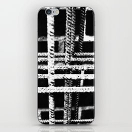 Rebar And Brick - Industrial Abstract iPhone Skin