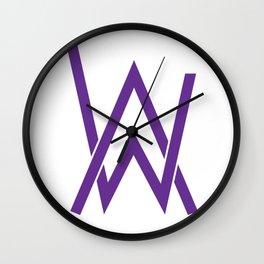 alan walker initial purple Wall Clock