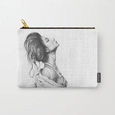 Pretty Lady Illustration Woman Portrait Beauty Carry-All Pouch