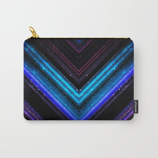 Sparkly metallic blue and purple galaxy lines Carry-All Pouch