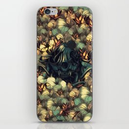 The skull, the flowers and the Snail Warm iPhone Skin