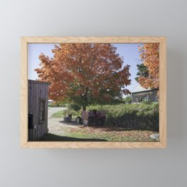 Fall time at the farm Framed Mini Art Print