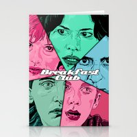 the breakfast club Stationery Cards featuring Breakfast Club Colors by David Amblard