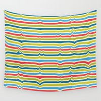 arya Wall Tapestries featuring Disturbed Stripes by Hinal Arya