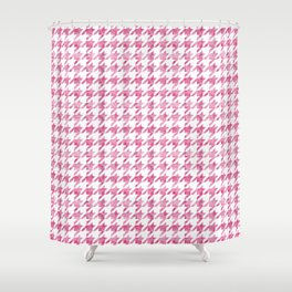 Watermelon Pink Houndstooth pattern Shower Curtain