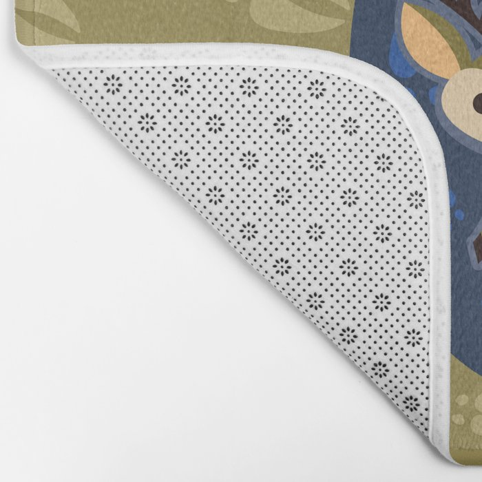 Deer with Hoof Prints Bath Mat
