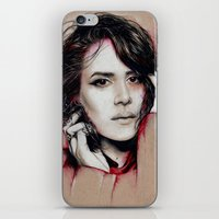 sarah paulson iPhone & iPod Skins featuring Sarah by marziiporn