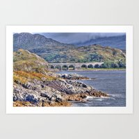 nan lawson Art Prints featuring Loch nan uamh Viaduct by Chris Thaxter